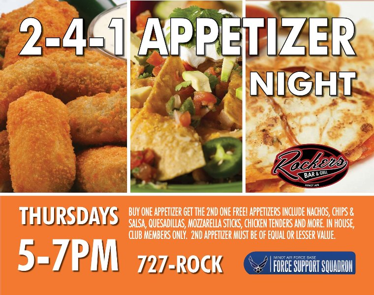 Members 2 for 1 Appetizers