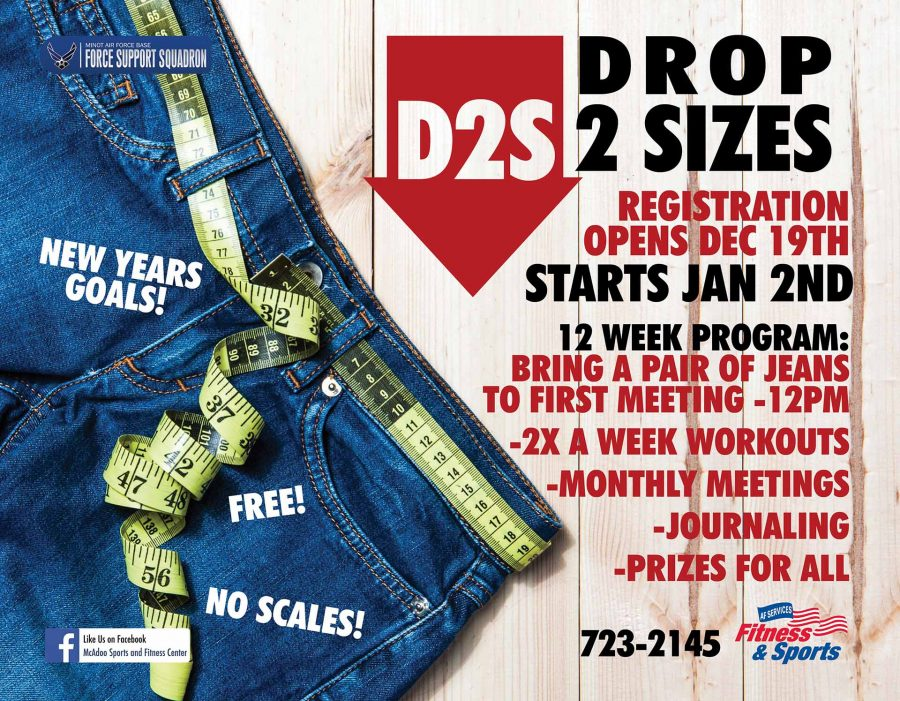 Registration opens for Drop 2 Sizes (D2S) at the Fitness Center