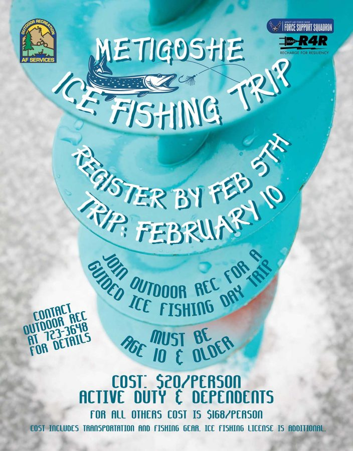 Last Day to register for the Ice Fishing Trip to Metigoshe at Outdoor Rec