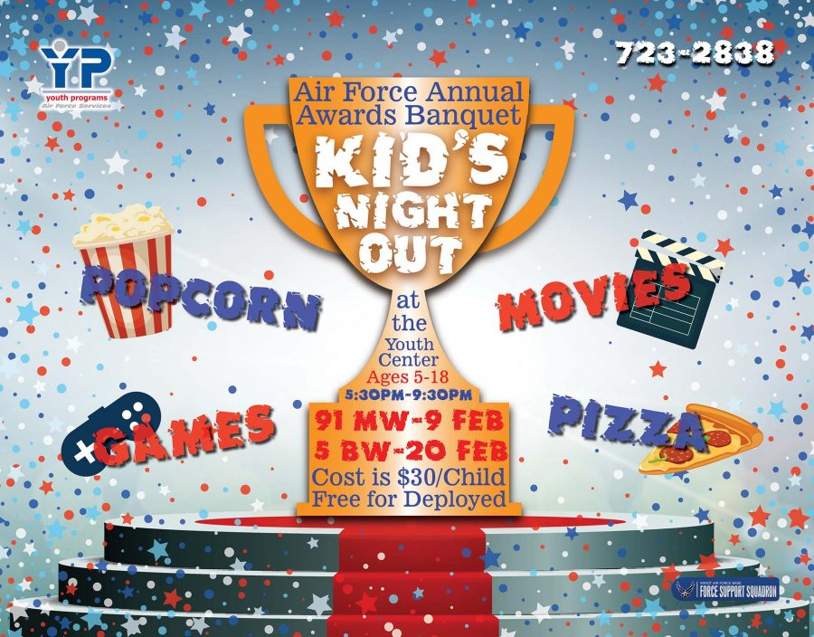 Air Force Annual Awards Banquet Kid's Night Out - 91 MW