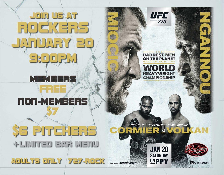 FIGHT NIGHT: UFC 220 Miocic v Ngannou