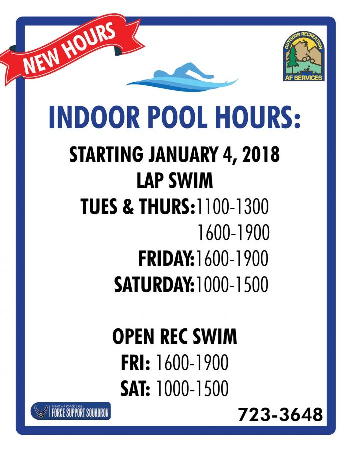 New Hours start for the Indoor Pool