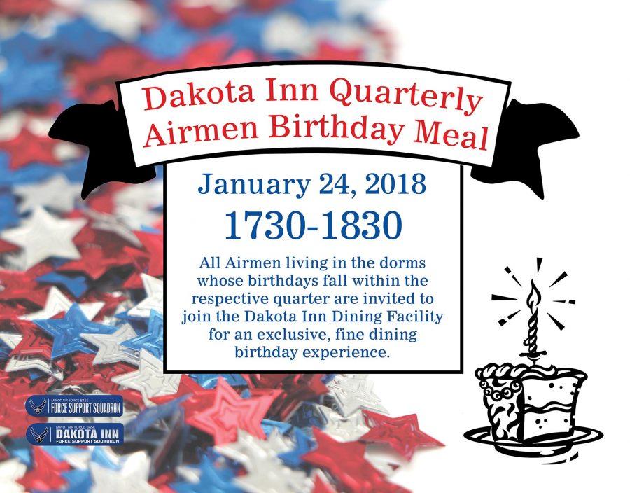 Dakota Inn Quarterly Airmen Birthday Meal
