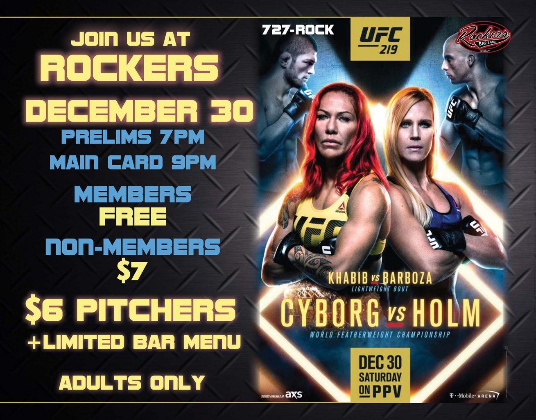 Fight Night UFC#219 Cyborg vs Holm