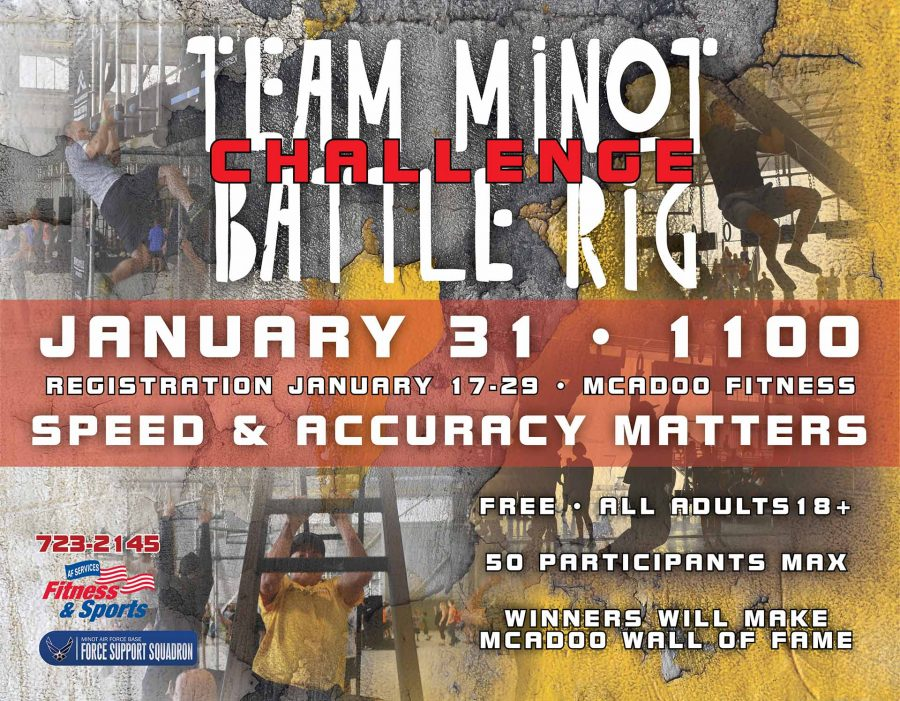 Last Day to register for the Team Minot Battle Rig Challenge at McAdoo Fitness
