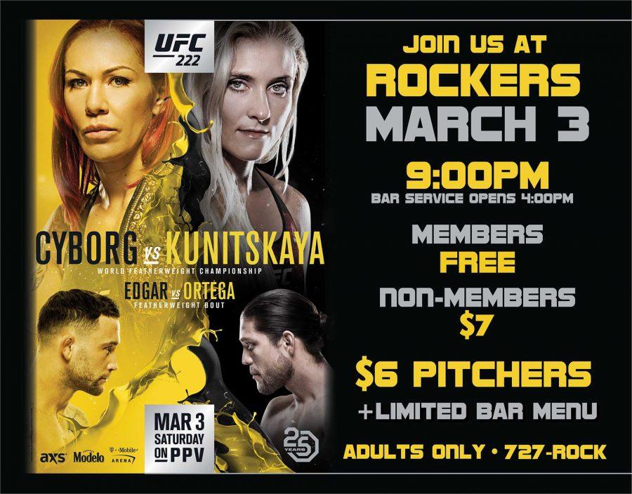 Fight Night UFC 222: Cyborg vs Kunitskaya