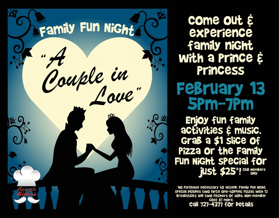 Family Fun Night with a Prince & Princess in Love