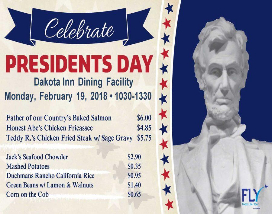 Dakota Inn Presidents Day Lunch Special