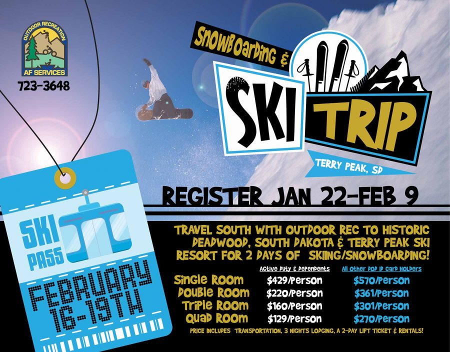 Registration opens for the Terry Peak Ski/Snowboarding Trip at Outdoor Rec