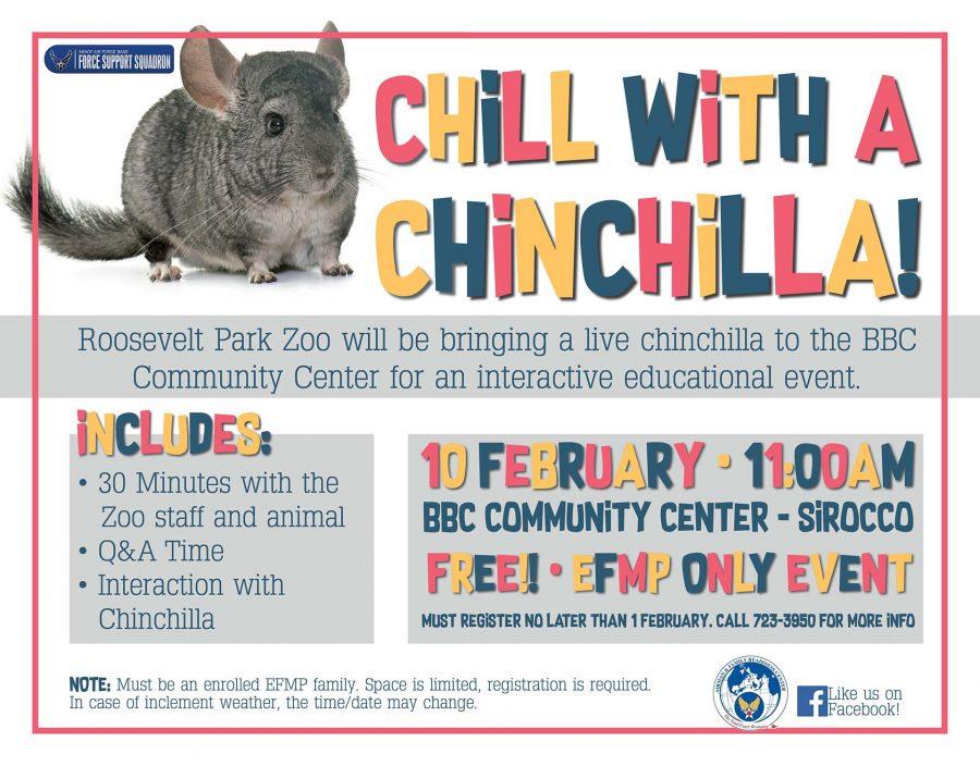 EFMP Event - Chill With a Chinchilla!
