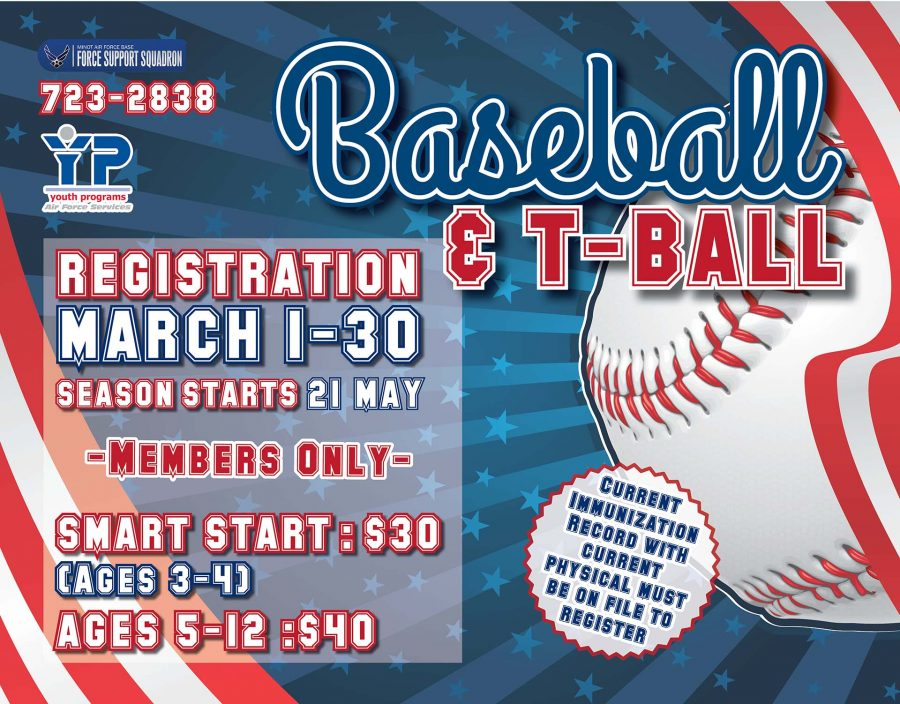LAST DAY to Register for Youth Baseball & T-Ball