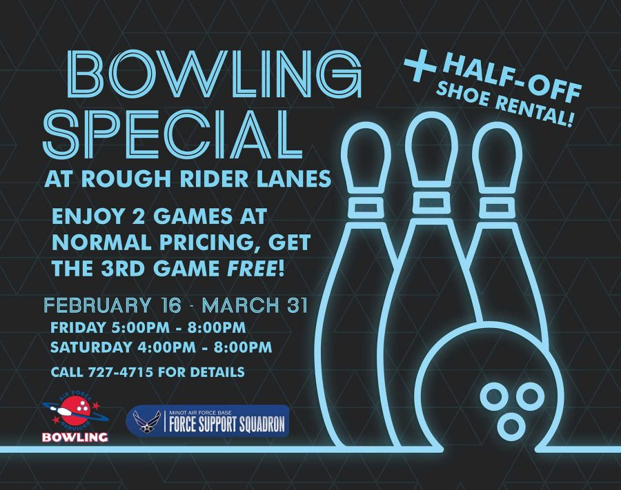 Bowling Special Play 2 Games, get the 3rd Free