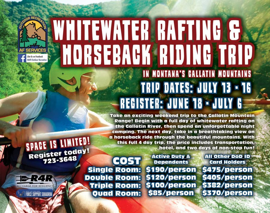 LAST DAY to Register for Whitewater Rafting & Horseback Riding Trip