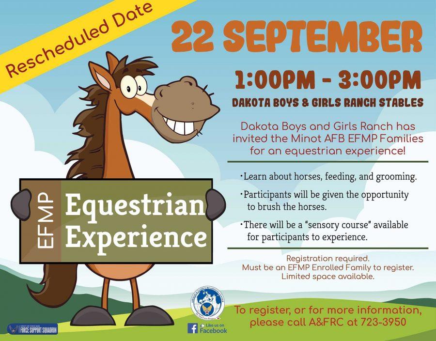 EFMP-FS Equestrian Experience (Rescheduled Date)
