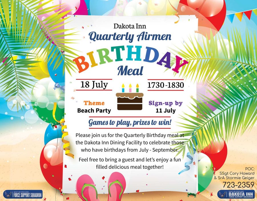 Airmen Quarterly Birthday Meal