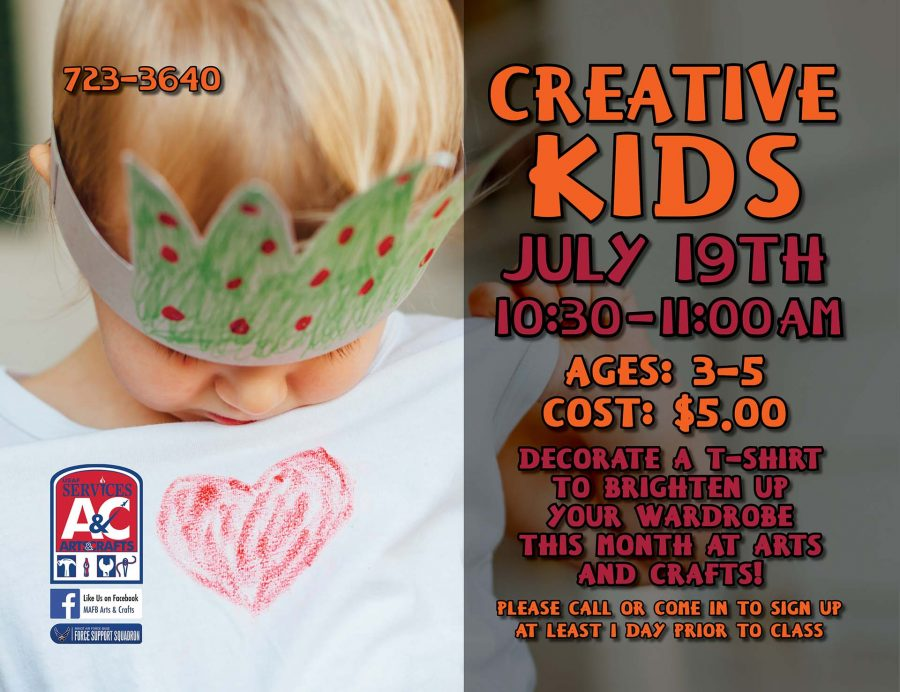 LAST DAY to Register for July Creative Kids Class