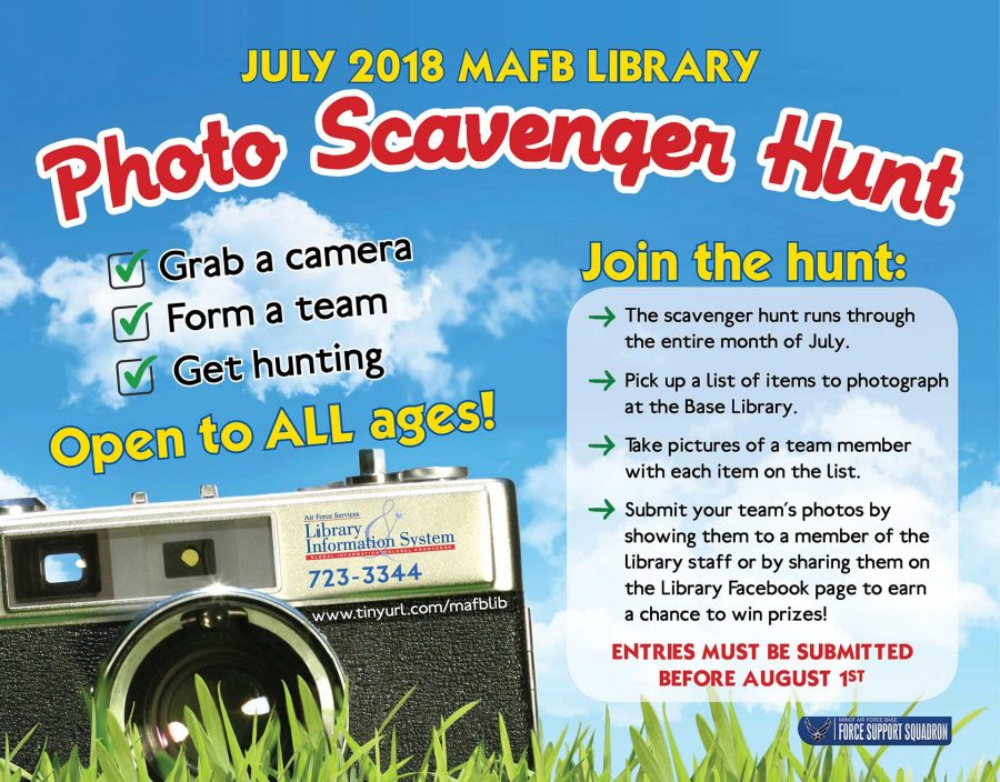 LAST DAY for July Photo Scavenger Hunt submissions