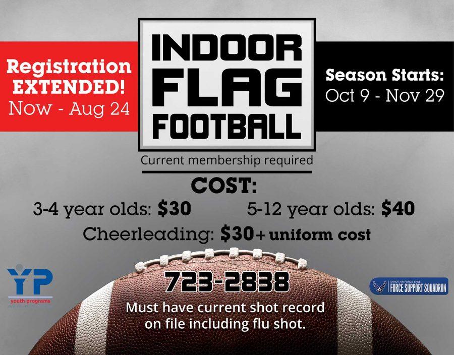 LAST DAY for Indoor Flag Football Registration