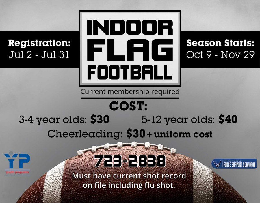 Indoor Flag Football Registration Begins
