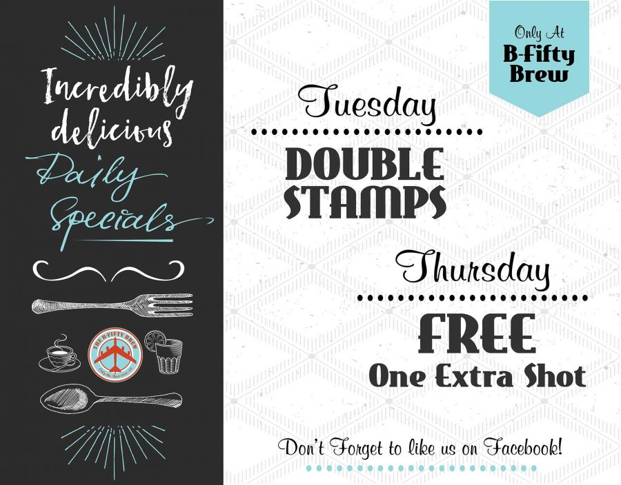 B50 Daily Specials - July 18 UPDATE