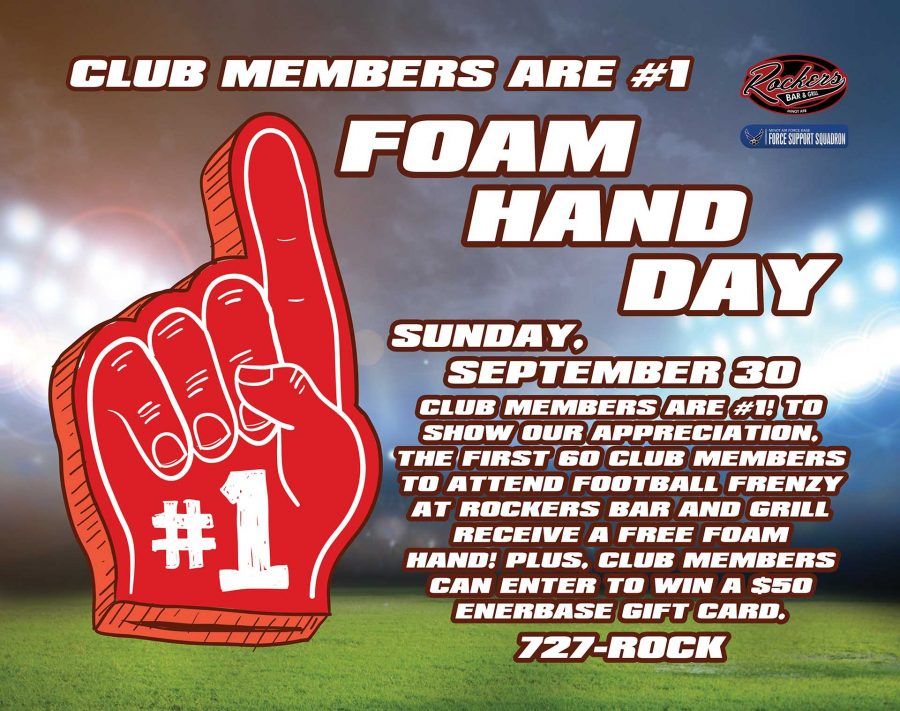 NFL Sunday Ticket Football Frenzy CLUB MEMBERS ARE #1 FOAM HAND DAY plus ENERBASE GIVEAWAY!