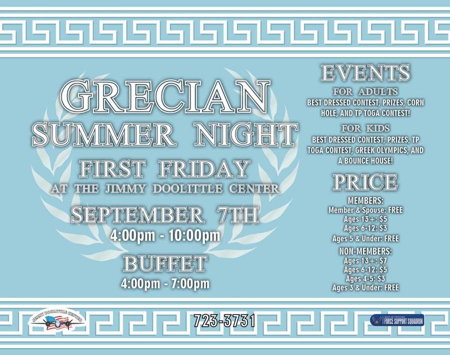 Grecian Summer Night First Friday @ JDC