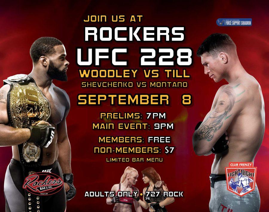 Fight Night UFC 228: WOODLEY VS TILL