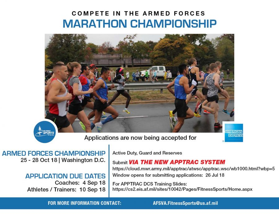 Coach Applications due for Armed Forces Marathon Championship