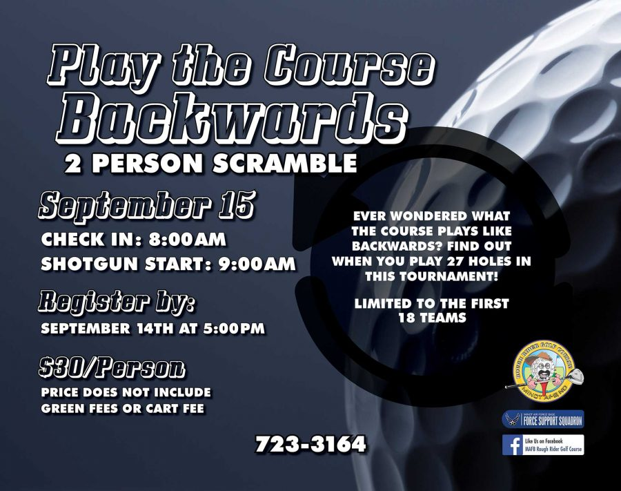 LAST DAY to Register for Play the Course Backwards 2 Person Scramble