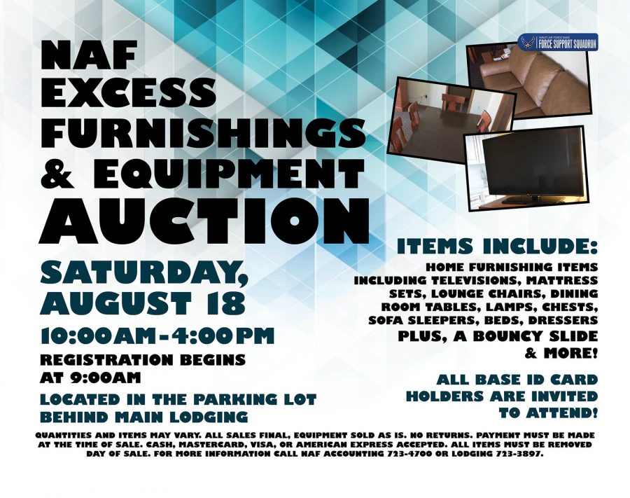 NAF Excess Furnishings & Equipment Auction