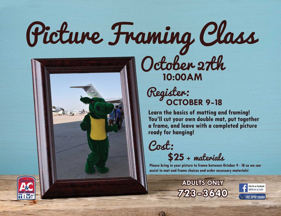 LAST DAY to Register for October Picture Framing Class
