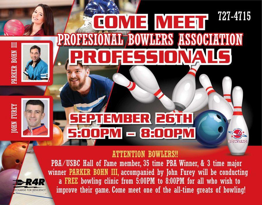 PBA Professional Bowlers at Rough Rider Lanes