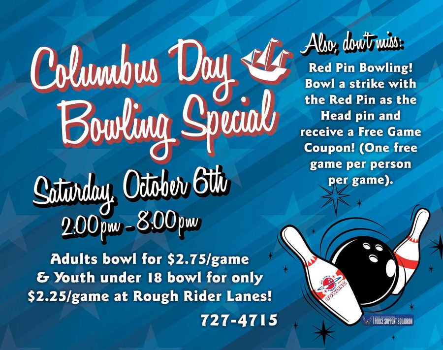 Pre Columbus Day Bowling Special