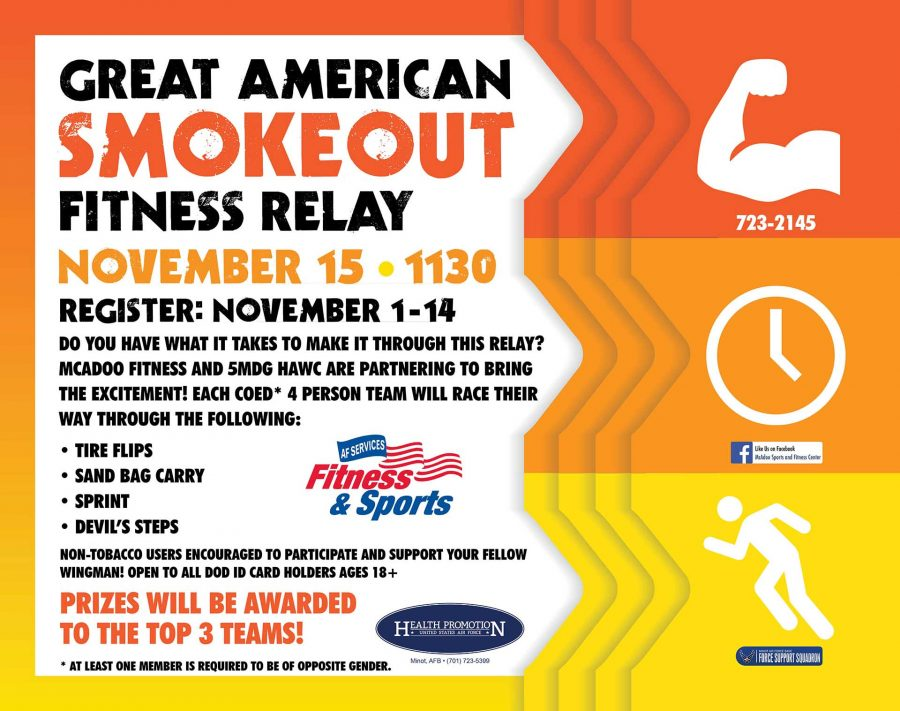 REGISTRATION OPENS for Great American Smokeout Fitness Relay