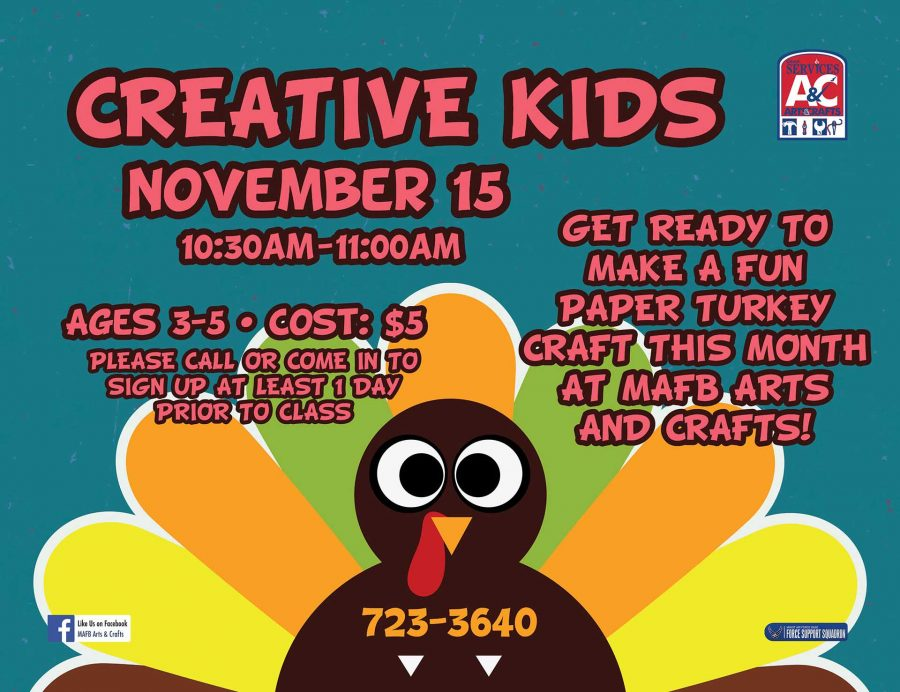 LAST DAY to Register for November Creative Kids Class