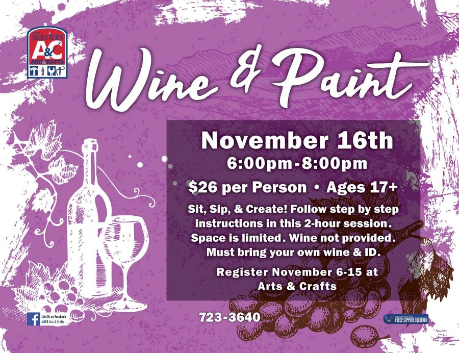 LAST DAY to Register for November Wine & Paint Class