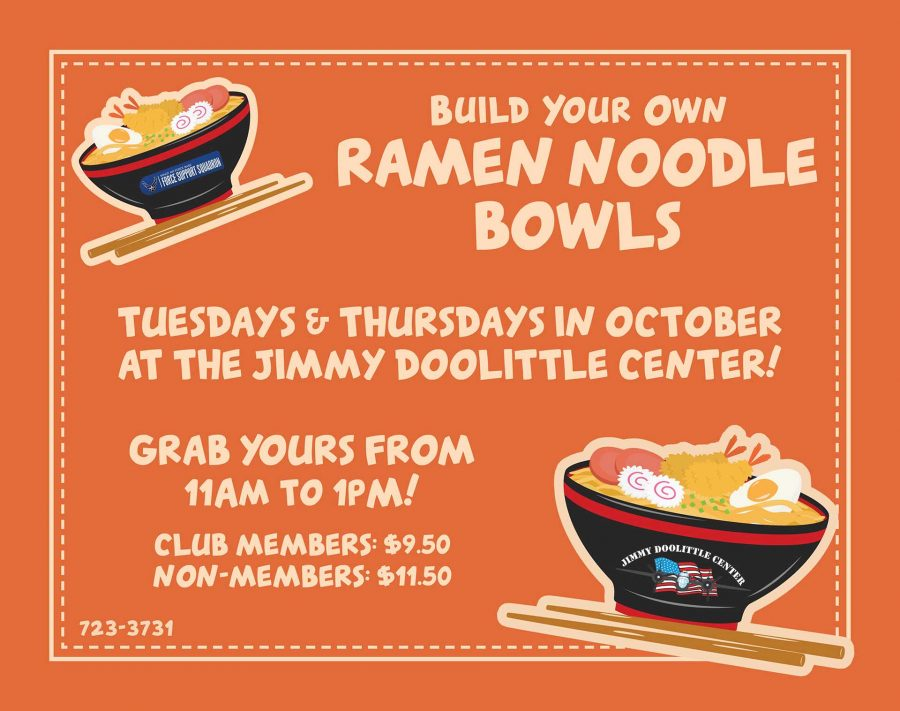 Build Your Own Ramen Noodle Bowl All Ranks Lunch Buffet