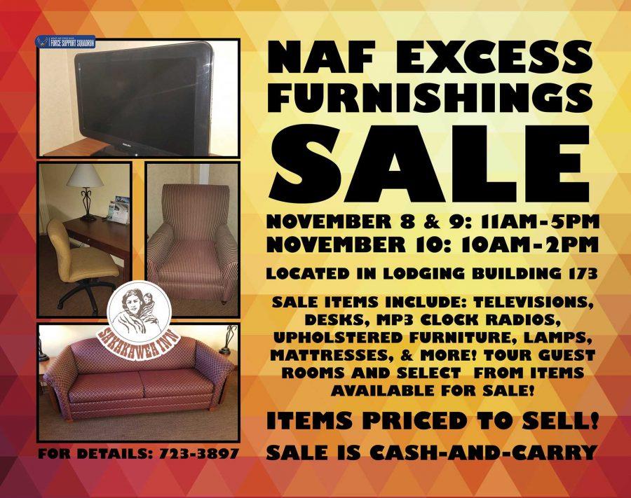NAF Excess Furnishings Sale
