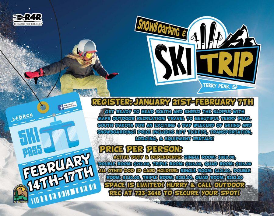 Registration CLOSES: Snowboarding & Ski Trip to Terry Peak, SD
