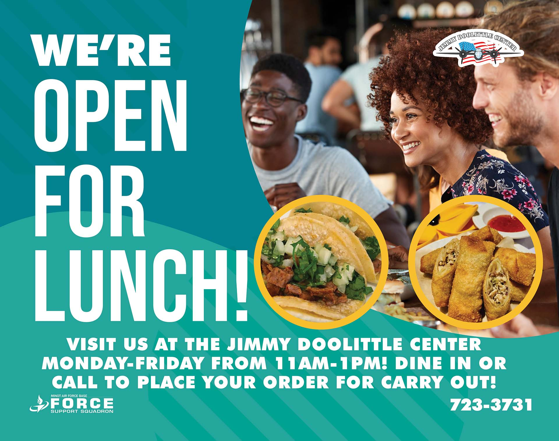 JDC Open for Lunch