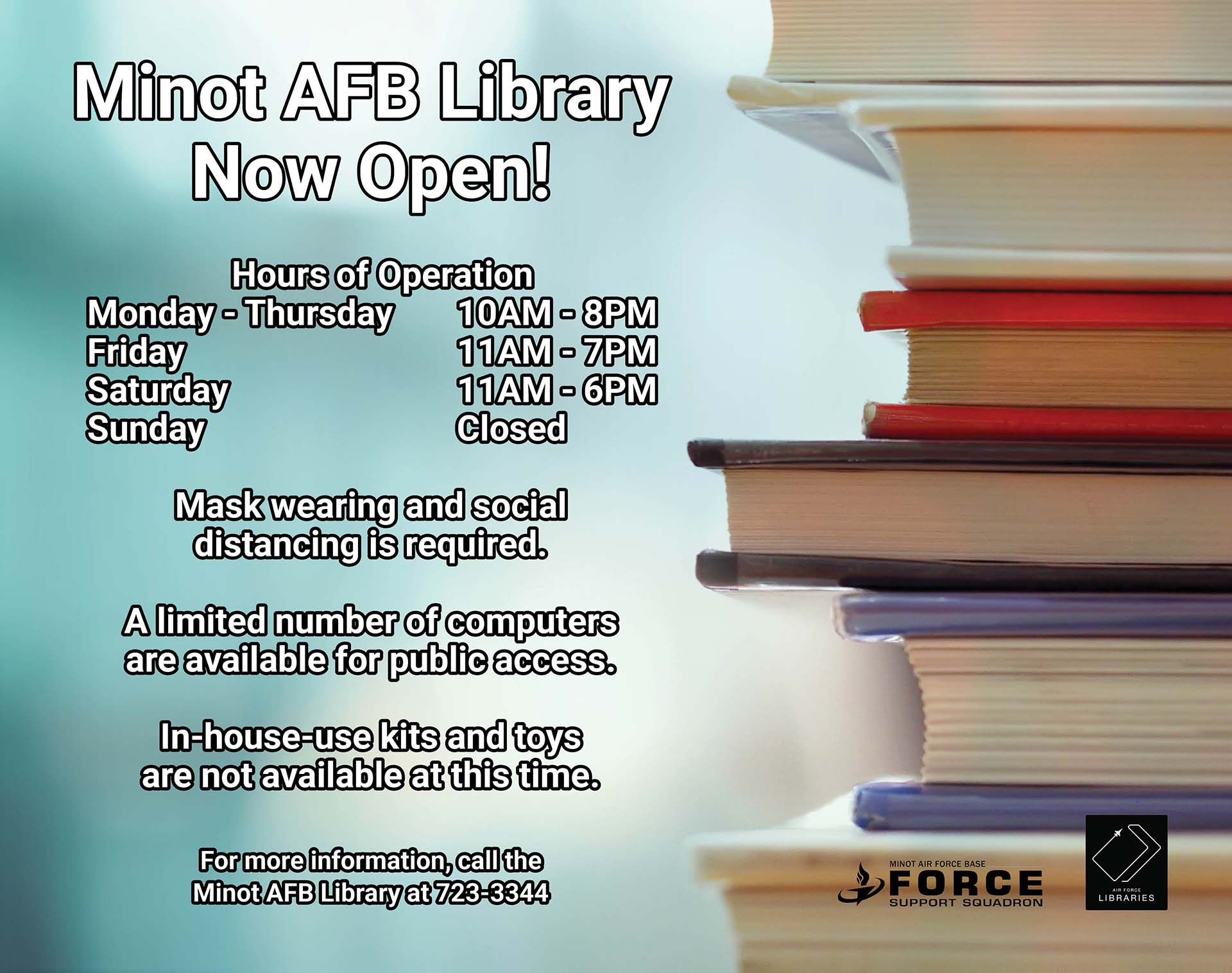 Minot AFB Library - Now Open