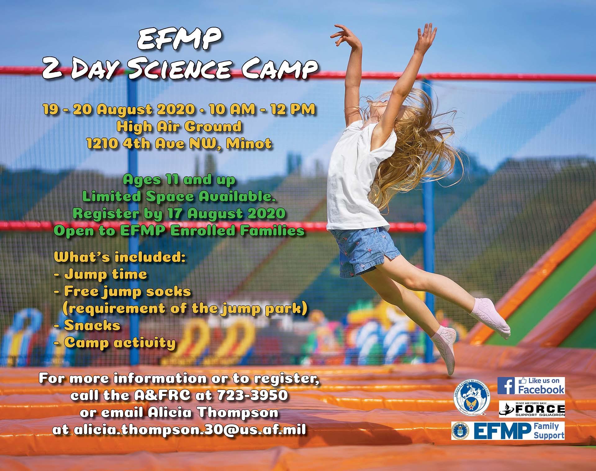 EFMP 2 Day Science Camp