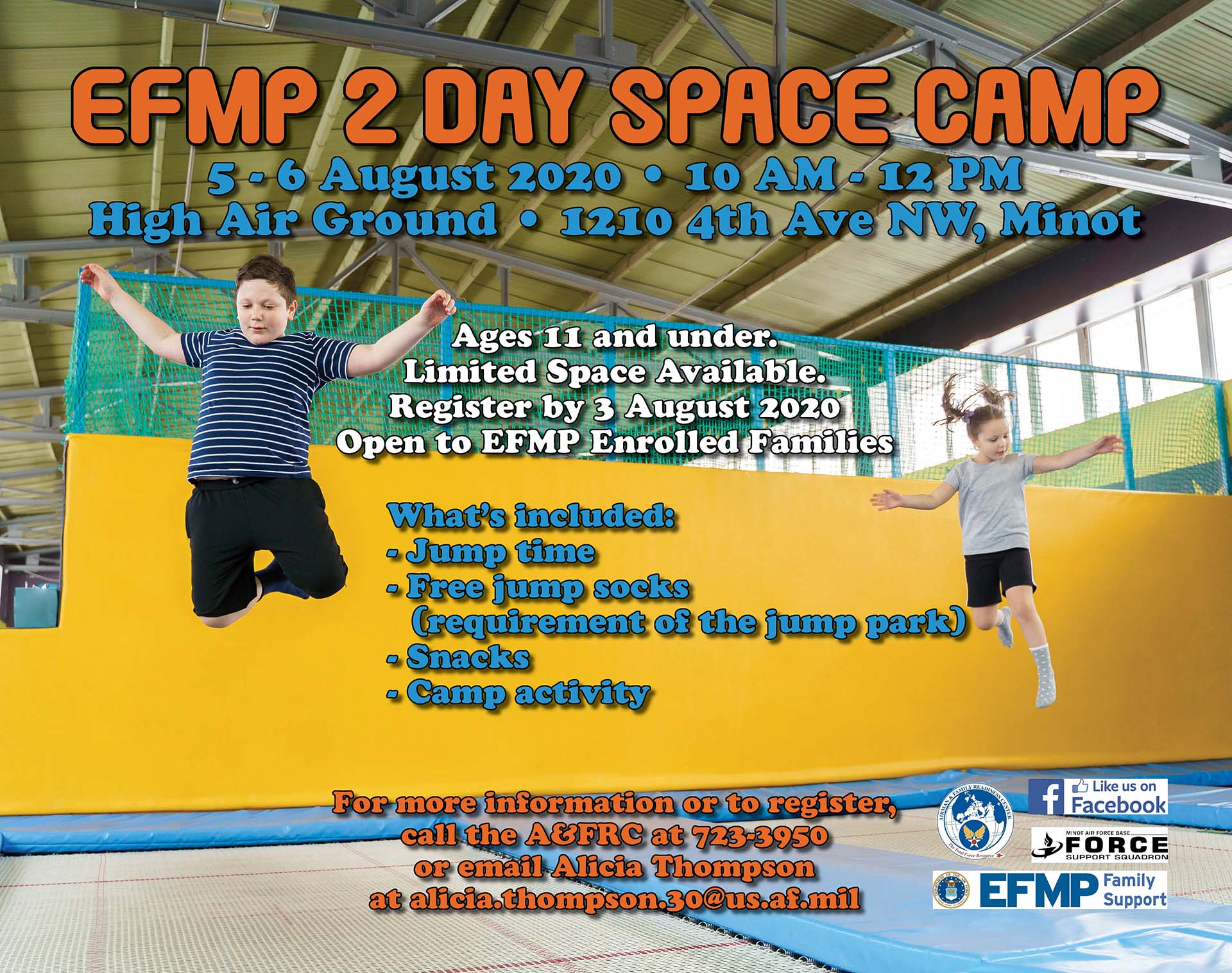 EFMP 2 Day Space Camp
