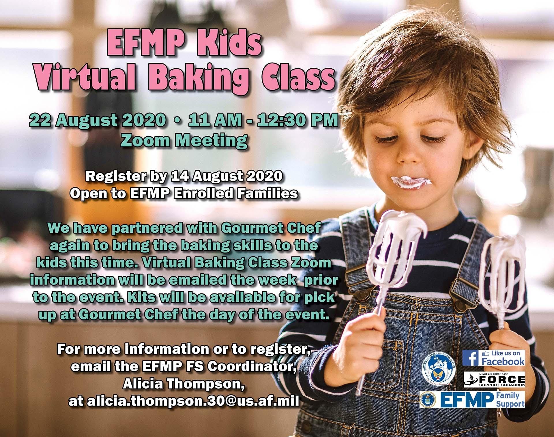 EFMP Kids Virtual Baking Class