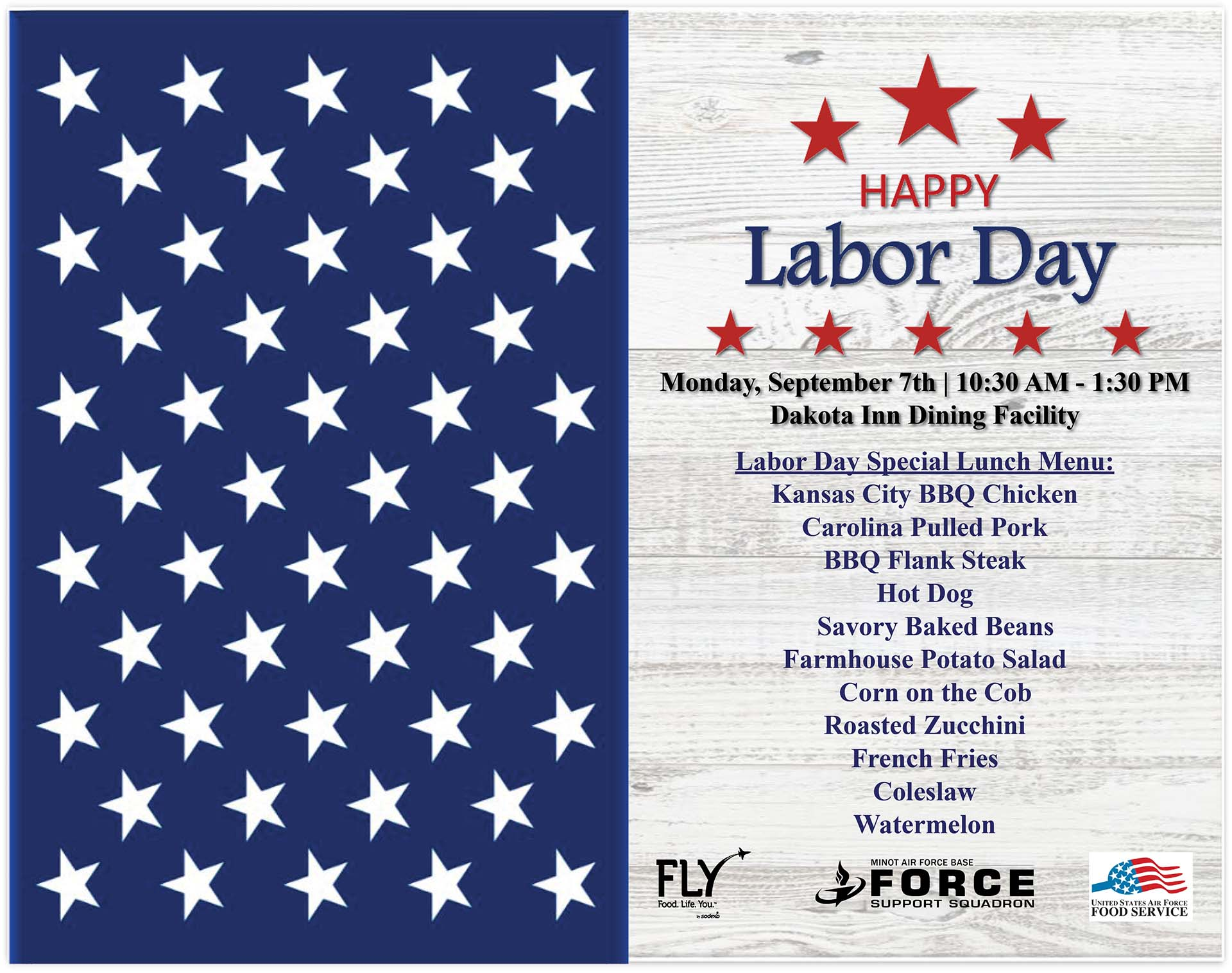 Labor Day Special Lunch