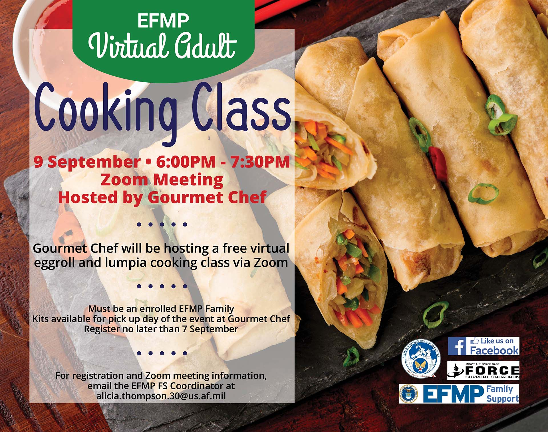 EFMP Virtual Adult Cooking Class - Eggrolls and Lumpia