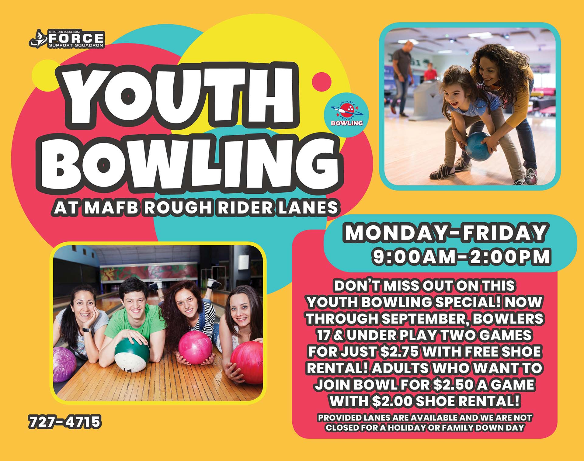 Youth Bowling - Sept 20