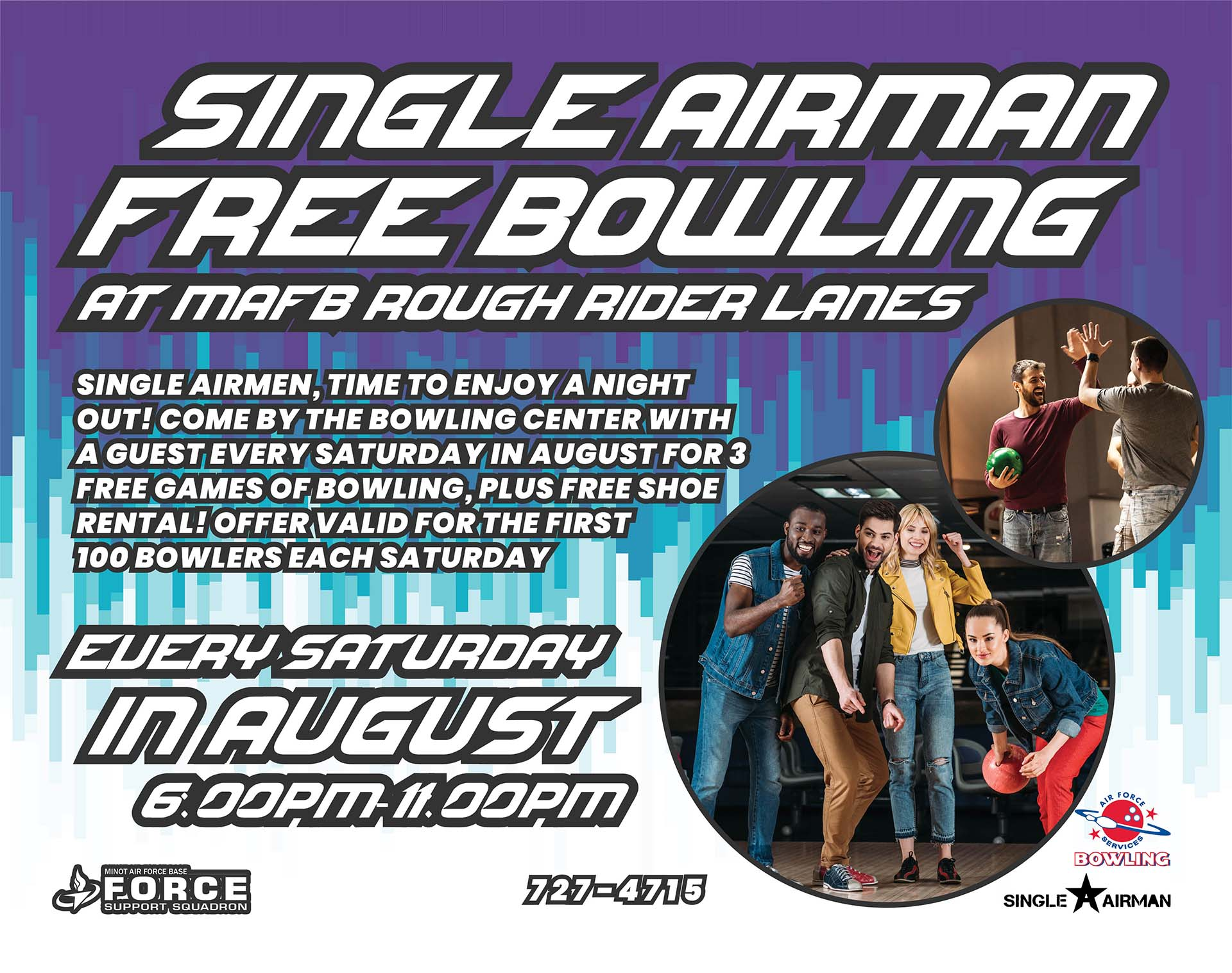 Single Airman Free Bowling