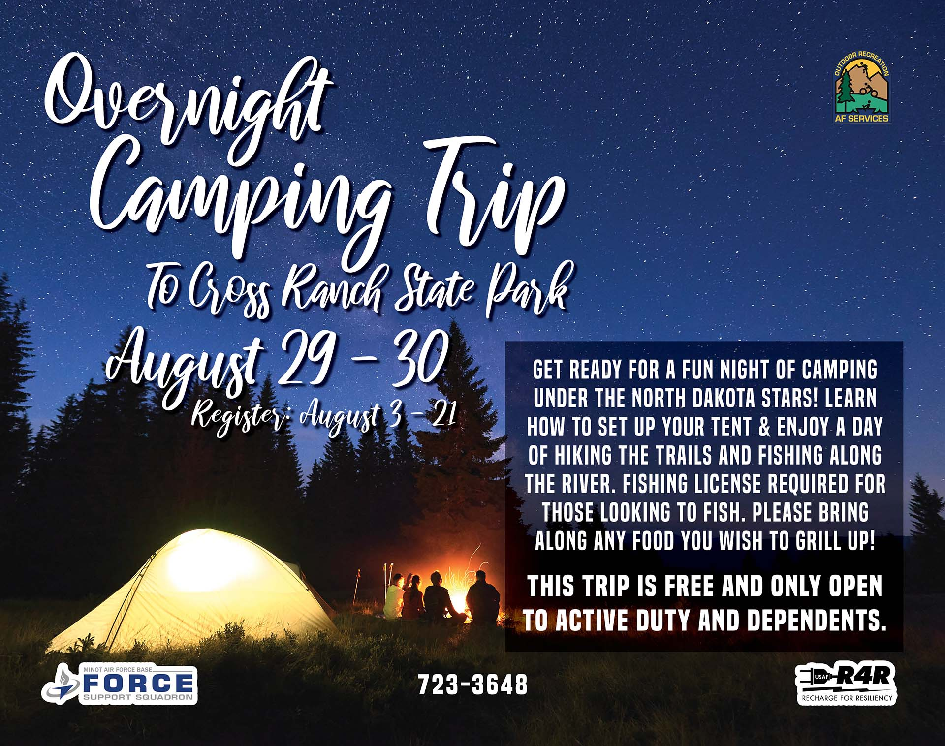 Registration Opens: Overnight Camping Trip