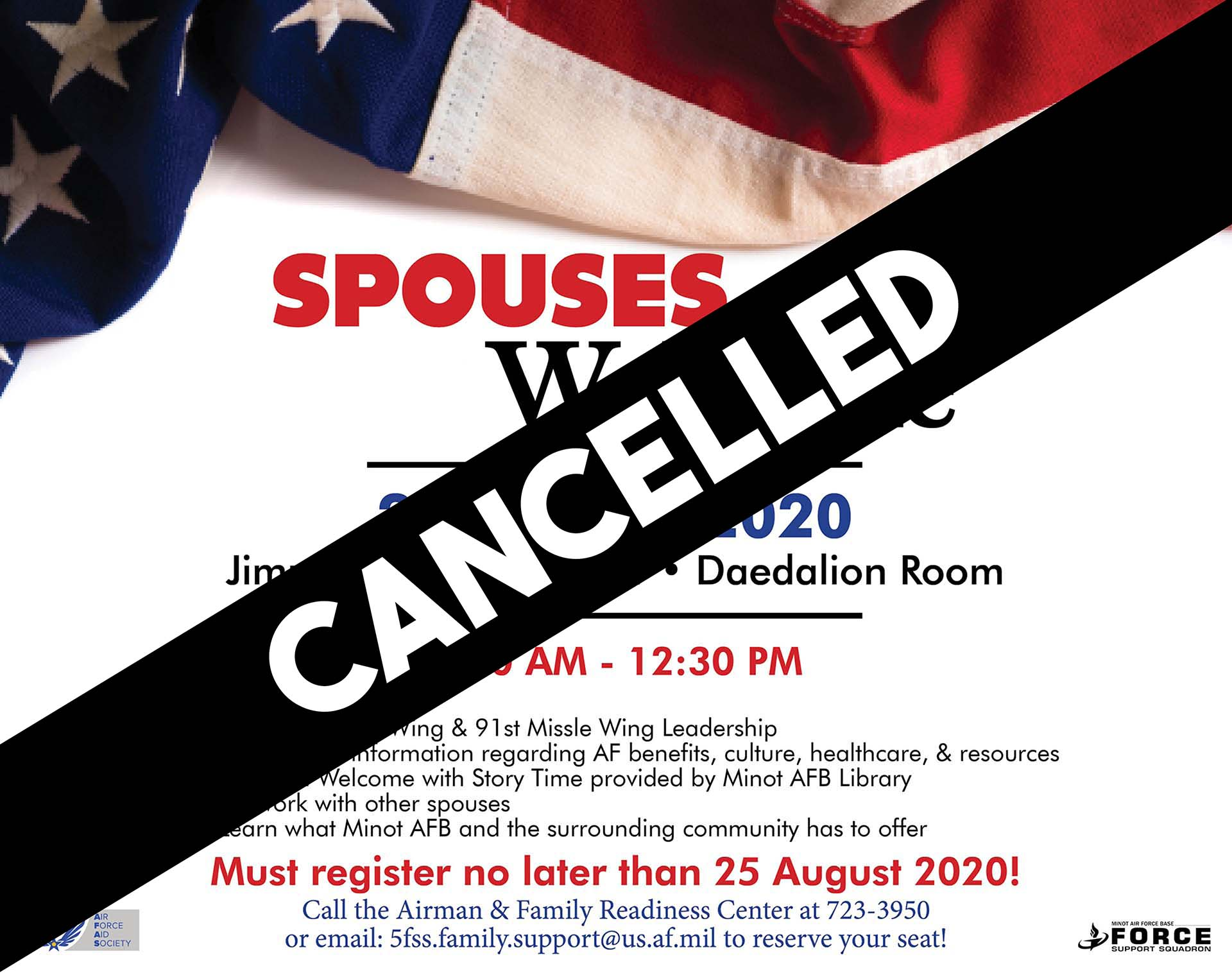 Spouses Welcome - CANCELLED